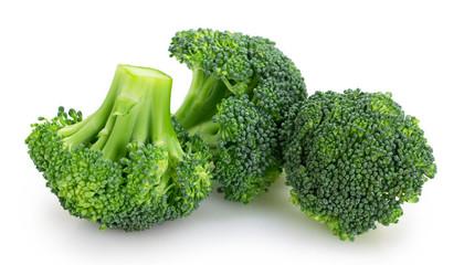 Fototapete - Fresh broccoli on white background