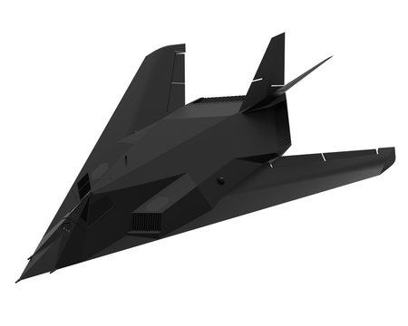 Military stealth aircraft. 3D illustration.