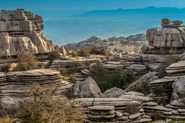Torcal de Antequera. This natural park is located near Antequera. Spain.