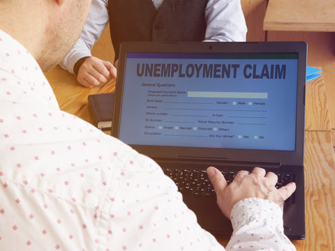 Conceptual business photo is showing printed tex unemployment claim