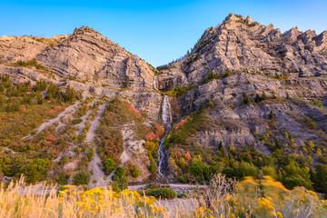 Fototapete - Bridal Veil Falls, Provo, Utah