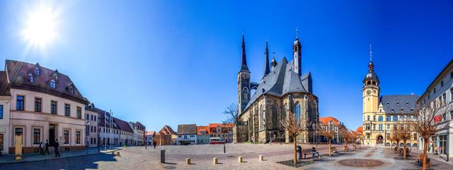 Wall Mural - Kirche und Rathaus, Koethen, Sachsen Anhalt, Deutschland