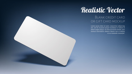 Realistic Floating Business Branding Card Template Mockup with Transparent Shadows on Dark Blue Background. Vector illustration