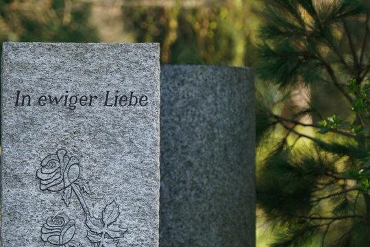 """Grabmahl """"In ewiger Liebe"""""""