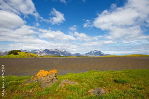 壁紙(ウォールミューラル) Wonderful image of amazing nature landscape. Location Stokksnes cape, Iceland,