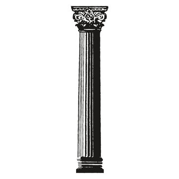 antique column isolated on white