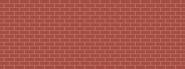red tiles background brick wall vector panorama illustration pattern seamless