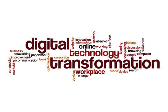 Digital transformation word cloud concept