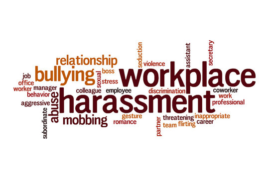 Workplace harrasment word cloud concept