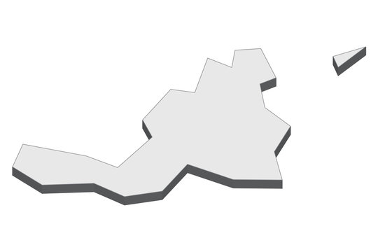3D map illustration of Saint Martin