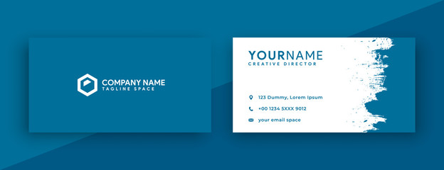 modern business card design. blue business card design . new 2020 color trend , mosaic blue business card template color
