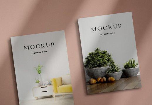 2 Realistic 3D Magazine Mockups