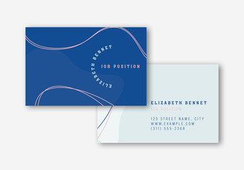 Blue and Pink Business Card Layouts