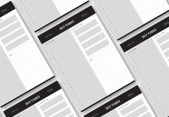 Simple Black and White Planner Layout