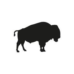 Fototapeta Silhouette of european bison or wisent vector