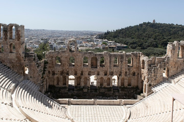 Foto auf AluDibond Athen Odeon of Herodes Atticus in Athens, Greece
