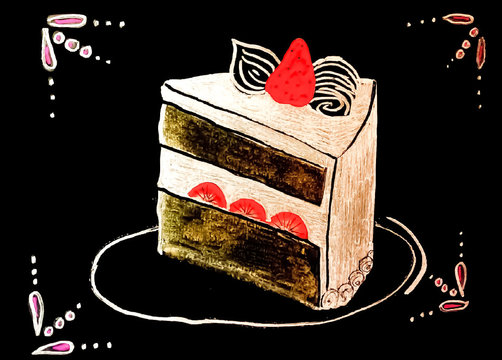 Vector of Slice of Cake
