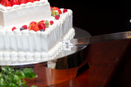 The moment of cake cutting