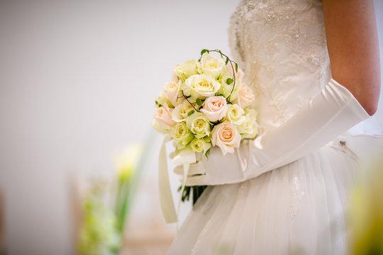 wedding bouquet in the hands