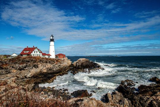 Light house on the Maine Coast
