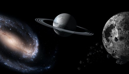 Planets and galaxy, science fiction wallpaper. Beauty of deep space. Billions of galaxies in the...