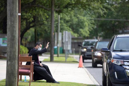 New Orleans street scenes amid the outbreak of the coronavirus disease