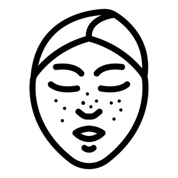 Black dots on the face icon. Outline black dots on the face vector icon for web design isolated on white background
