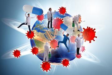 Coronavirus covid-19 pandemic concept with doctor