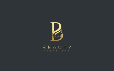 Letter B Beauty Face Logo Design