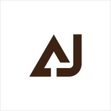 Initial letter ja or aj logo design template