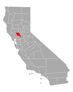 Karte von Yolo in Kalifornien