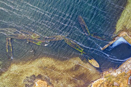 Schiffswracks vor der Insel Rügen