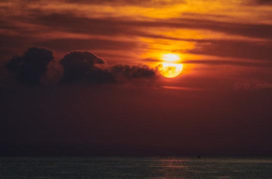 Sunset sunrise at Zalynthos island