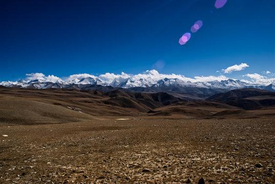 Himalaje panorama z Nepalu