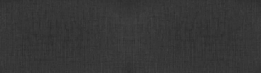 Obraz Dark anthracite gray black natural cotton linen textile texture background banner panorama - fototapety do salonu
