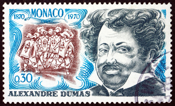 Postage stamp Monaco 1970 Alexandre Dumas, French writer