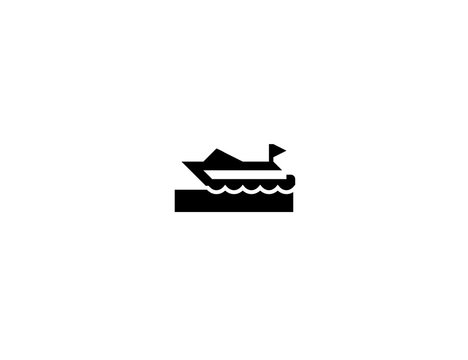 Speedboat vector flat icon. Isolated speed boat emoji illustration