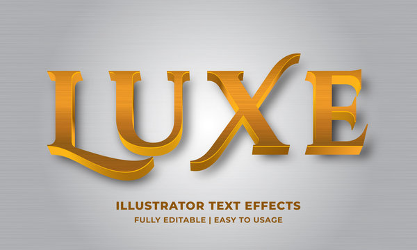 Luxury Gold Metallic 3d Text Effect