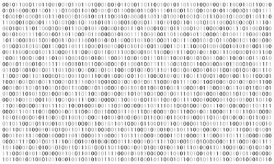 Digital  binary code background. Matrix style program. Random falling numbers.