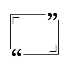 black quote in speech bubble icon