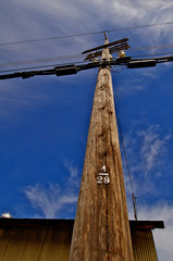 Power Pole with service drop to barn