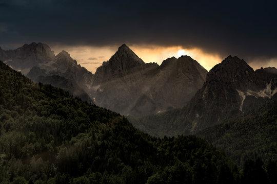 dolomites mountain Italy sunset