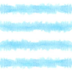 Hand paint stripe seamless pattern. Watercolor striped geometric background. Blue ink brush strokes. grunge stripes, modern paintbrush line for wrapping, wallpaper, textile.