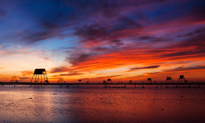 Dawn on Dong Chau beach