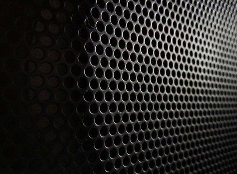 Full Frame Shot Of Perforated Metal