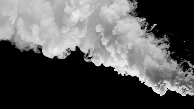 CG Colorful Smoke with black background