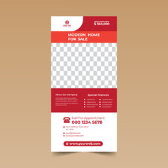 Red Nice Rack Card Design Template