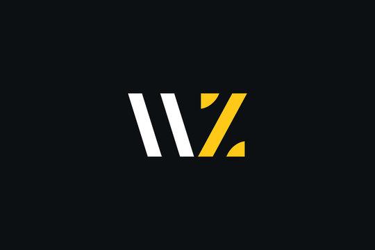 Initial based clean and minimal Logo. WZ ZW W Z letter creative fonts monogram icon symbol. Universal elegant luxury alphabet vector design