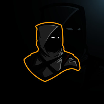 Black assassin logo gaming esports
