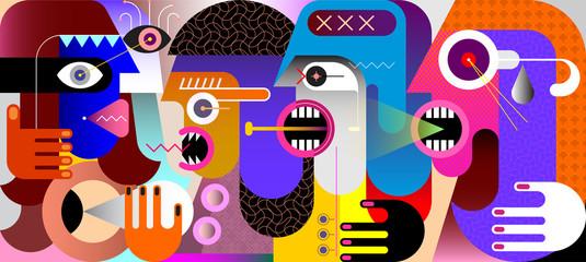 Quarrel vector illustration